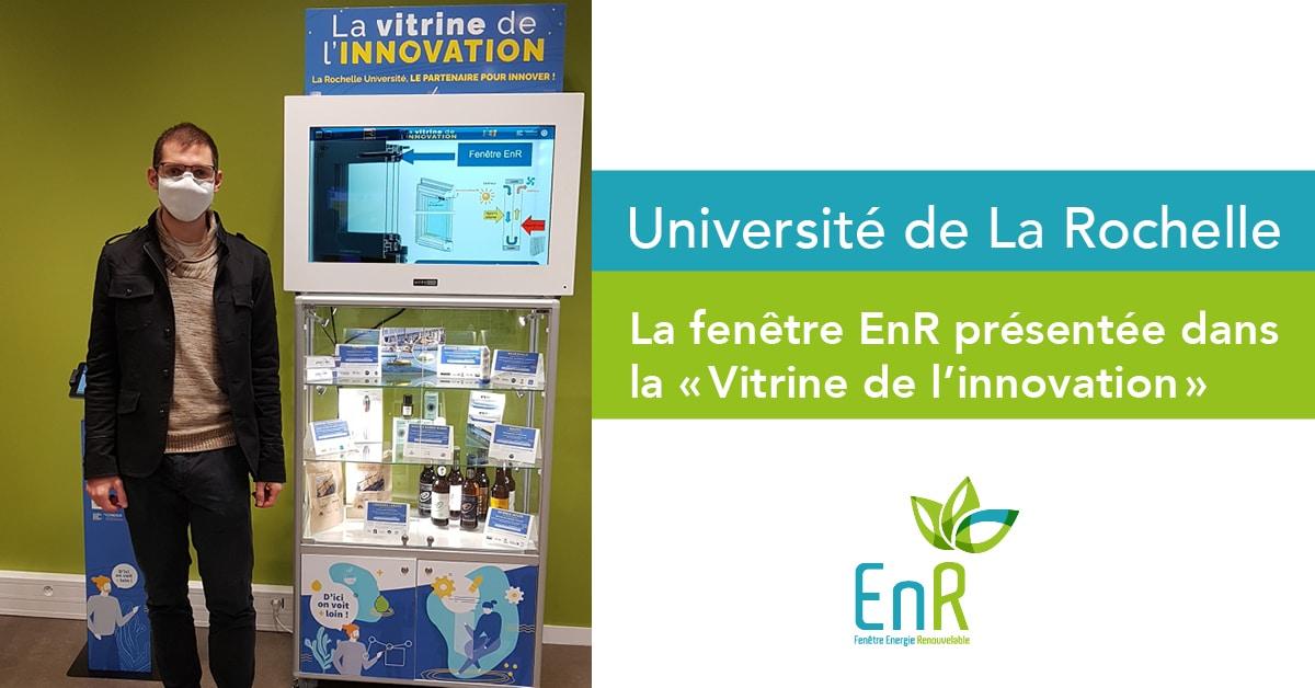 La fenêtre EnR présentée dans la «Vitrine de l'innovation»